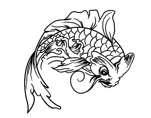 600x470 Koi Fish Coloring Pages