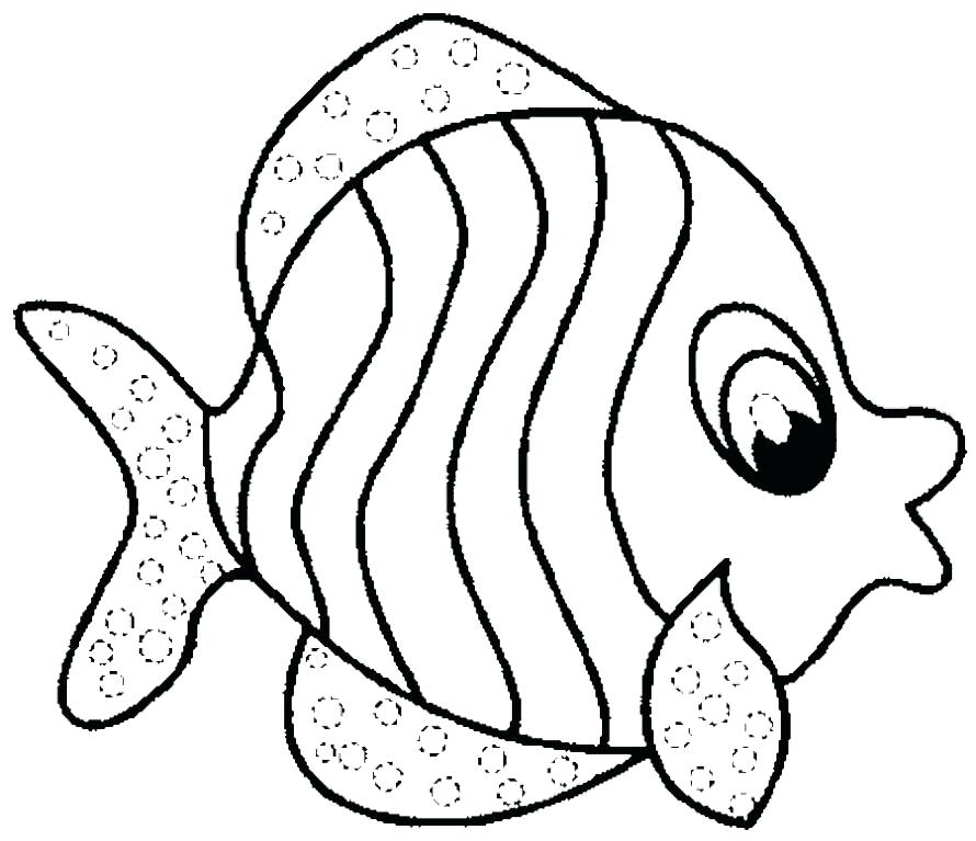 890x767 Ocean Fish Coloring Pages Omnitutor.co