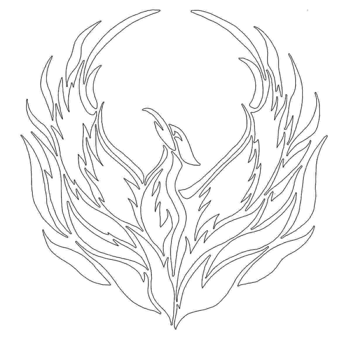 Phoenix Flames Coloring Pages - Clipart Library •
