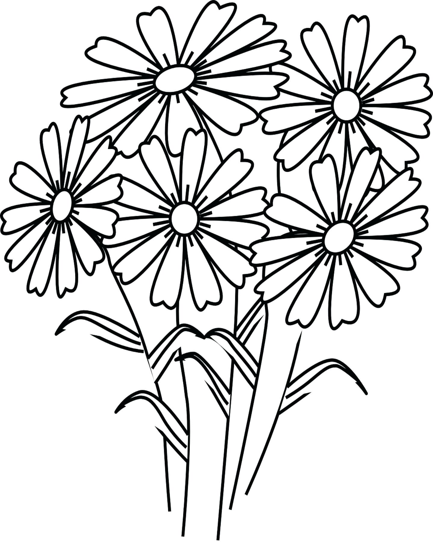 1440x1800 Coloring Realistic Flower Coloring Pages