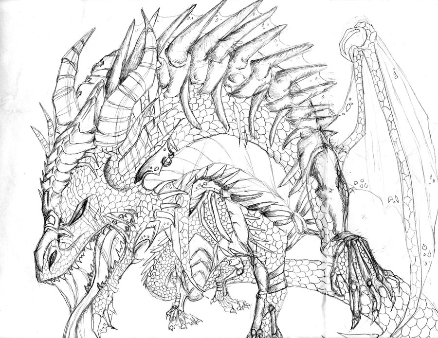 900x695 Dragon Pencil Art 2 By Crystalchik