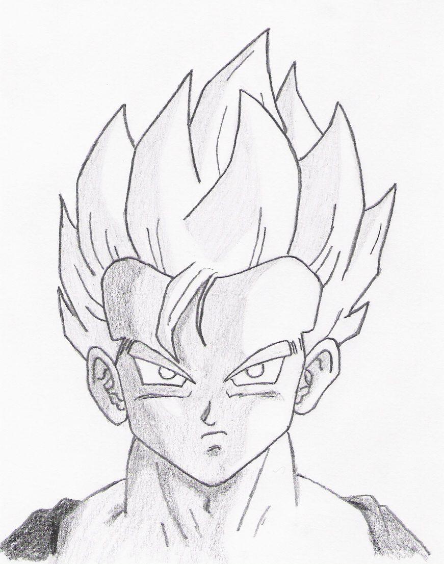 871x1106 Gohan Realistic Drawing Drawing Skill