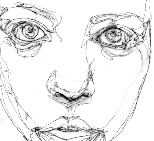 500x458 Continuous Line Drawing Face