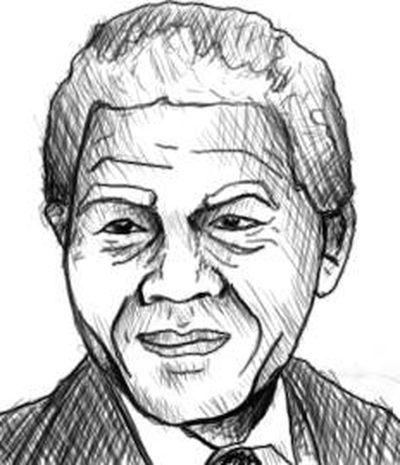 400x465 How To Draw Nelson Mandela's Face (With Pictures) Ehow
