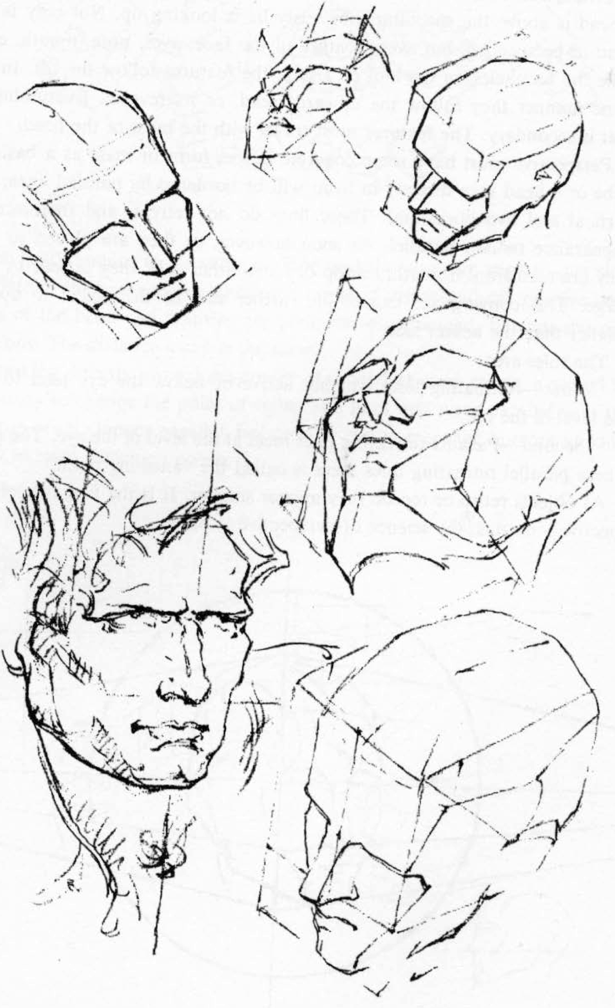 1200x1966 How To Draw The Head Perspective Drawing Human Head