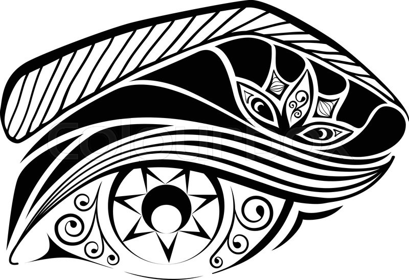 800x548 Ornate Eye Made In Zentangle Style By Lines, Swirls And Elements