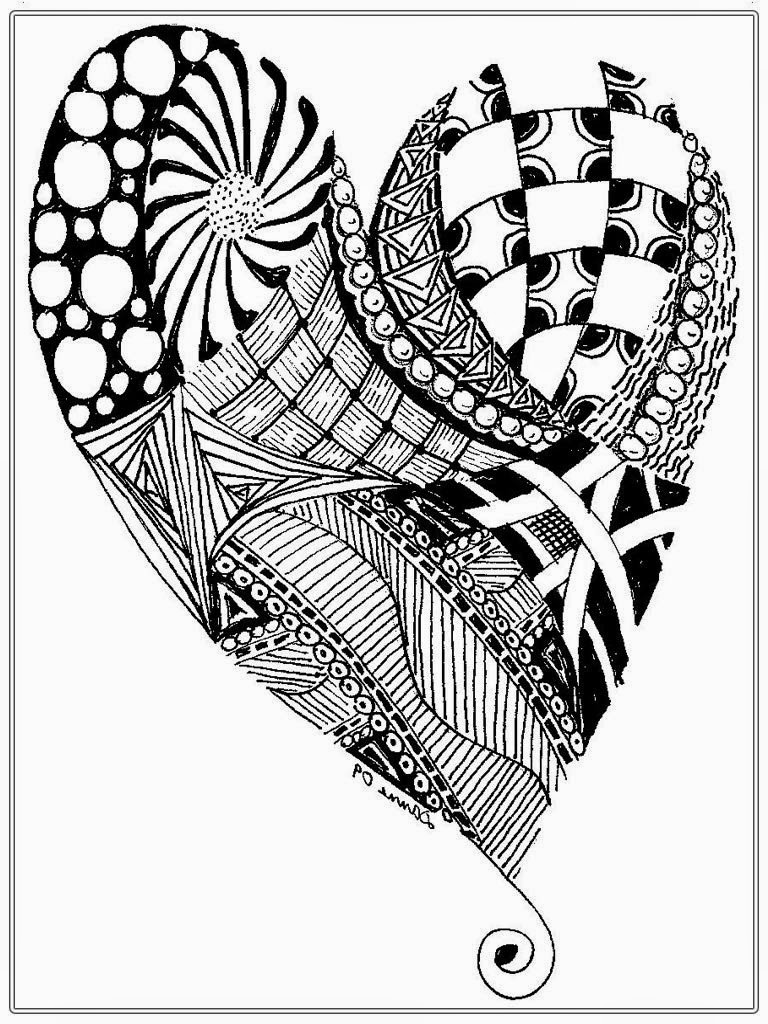 768x1024 Heart Pictures To Color For Adult Realistic Coloring Pages