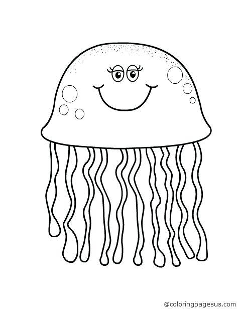 480x640 Jellyfish Coloring Pages Jellyfish Coloring Pages Jellyfish