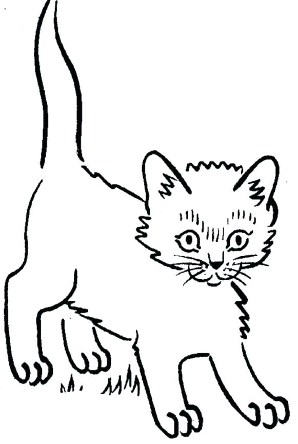 581x865 Kitten Coloring Pages For Cat And Kitten Coloring Pages Coloring