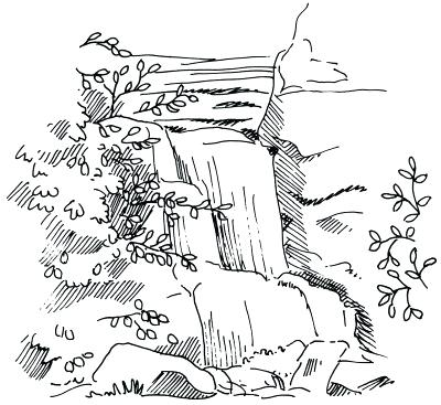400x367 How To Draw Landscapes How To Draw A Landscape Draw Scenery Step