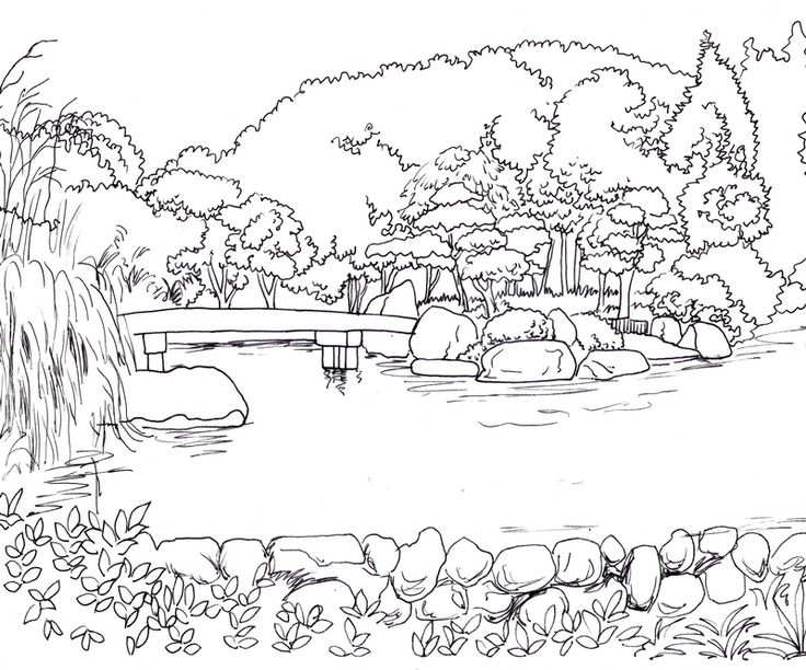 Realistic Landscape Drawing at GetDrawings   Free download