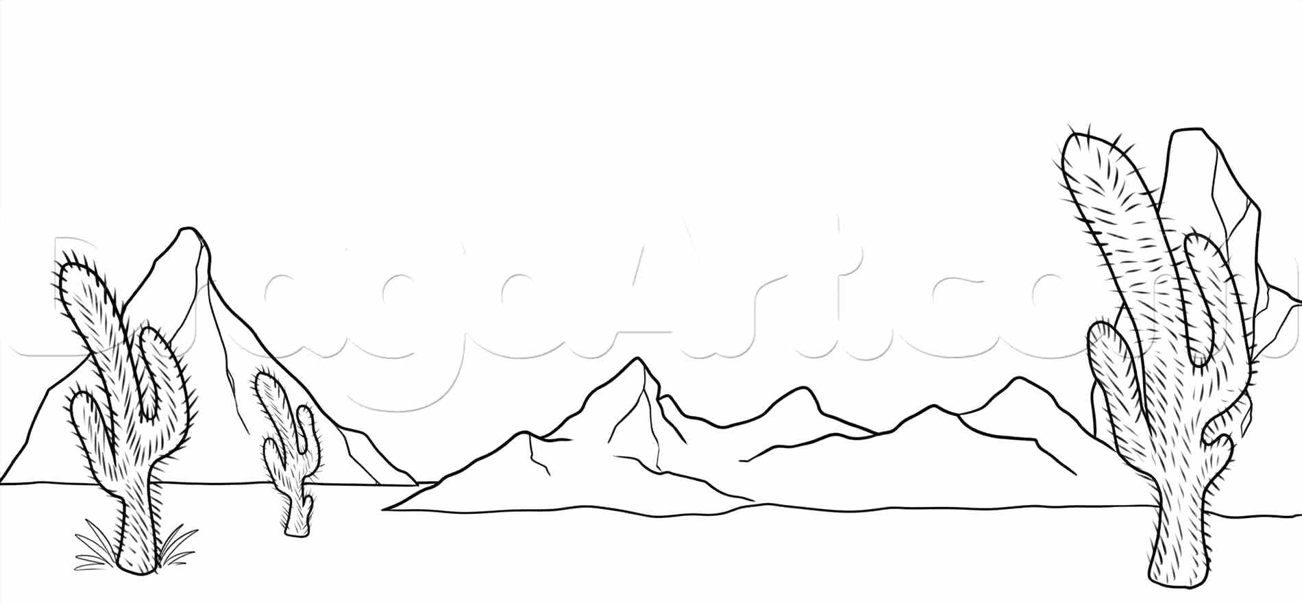 1900x880 Coloring Coloring Pages Of Mountains How Desert Mountain