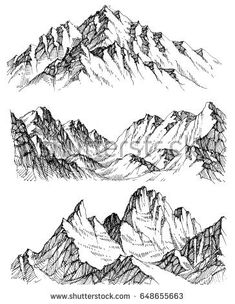 235x304 House In Mountain The Snow Landscape Hand Drawn Vector