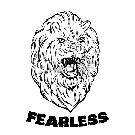 450x450 Fearless. Quote Typographical Background. Vector Illustration