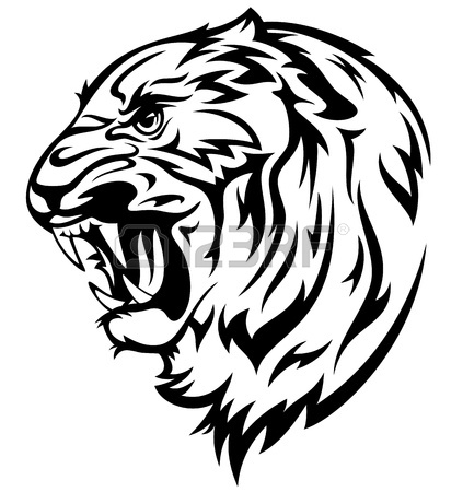 423x450 Furious Tiger Illustration