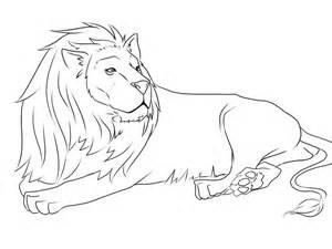 300x225 Lion Drawing Colour