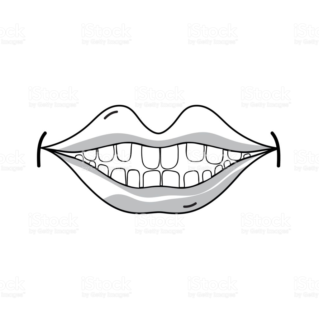 1024x1024 Drawn Caricature Happy Mouth