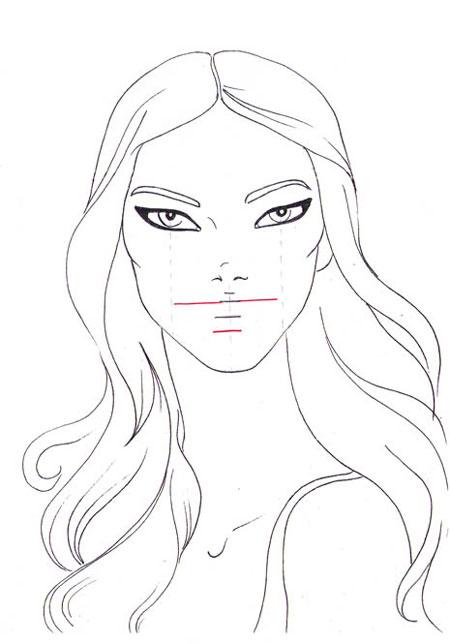 450x644 How to draw a smile I Draw Fashion