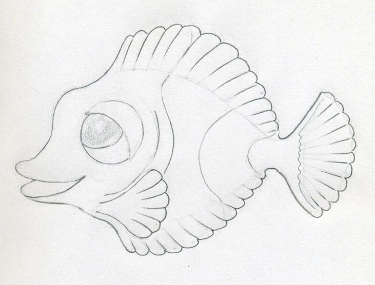 731x556 Original Cartoon Fish Drawing