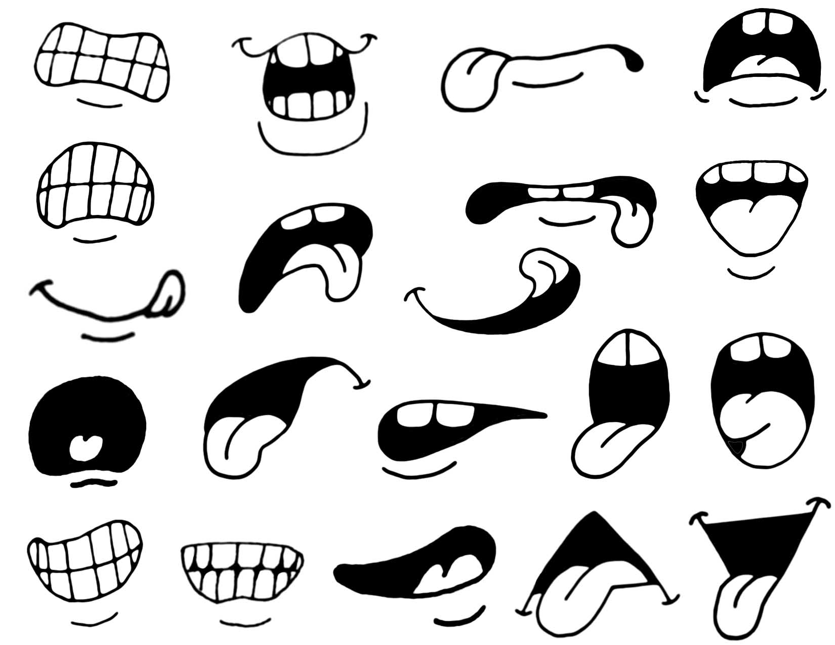 1650x1275 Cartoon Lips Drawing How To Draw Cartoon Mouths.