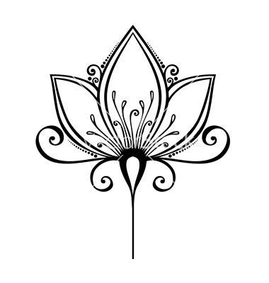 380x400 Drawn Lotus Real Flower