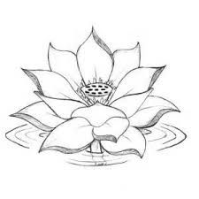 225x225 Lotus Flower Drawings For Tattoos More Tattoos Pictures