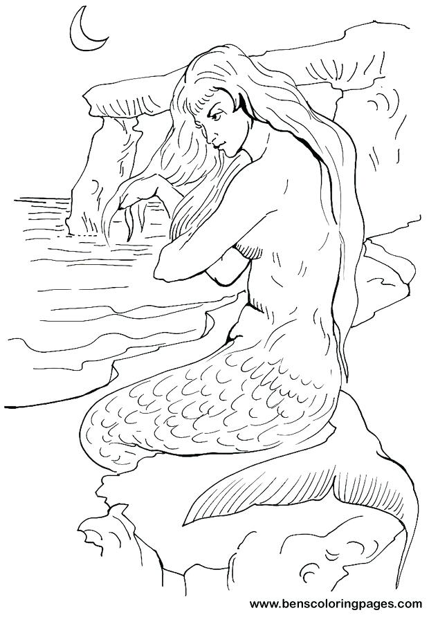 620x892 Mermaid Color Pages Awesome Coloring Mermaid Coloring Pages