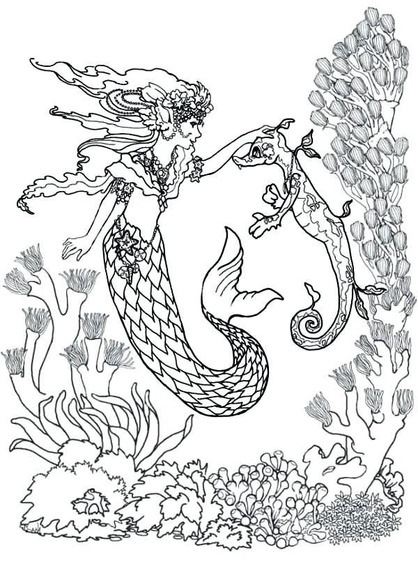 600x806 Mermaid Coloring Page Realistic Mermaid Coloring Pages Mermaid