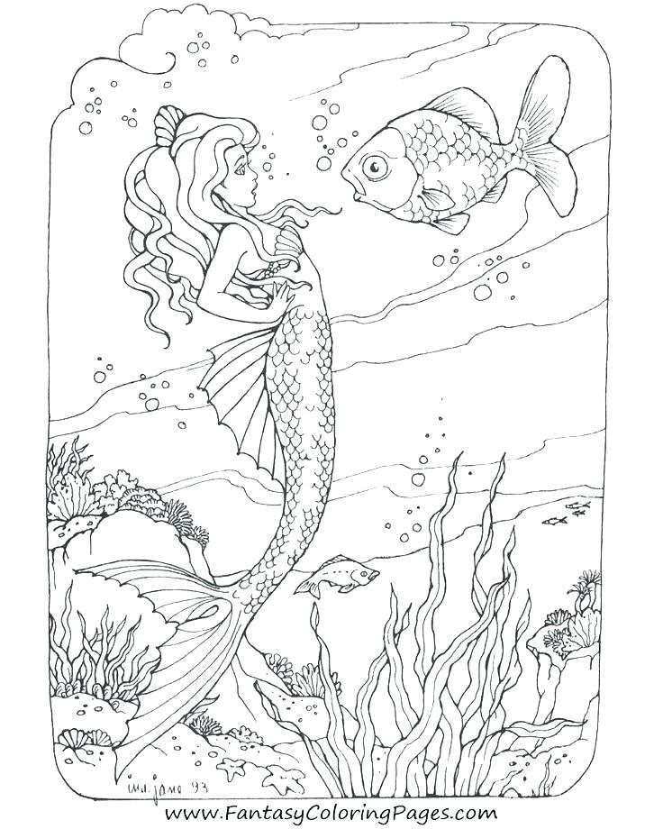 736x920 Mermaid Coloring Pages Online Mermaid Coloring Pics Barbie Mermaid