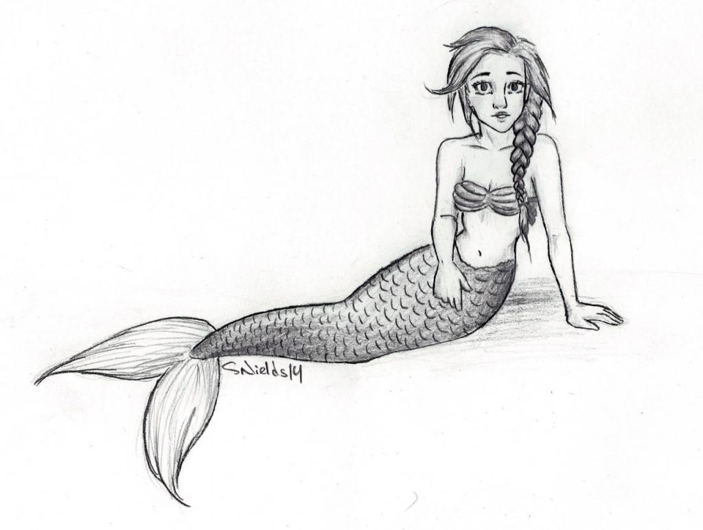 1024x772 Pencil Sketches Of Mermaids Mermaid Realistic Art Pencil Drawing
