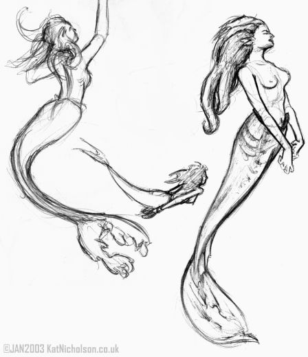 448x520 Realistic Merm Realistic Mermaid Drawing Tattoos