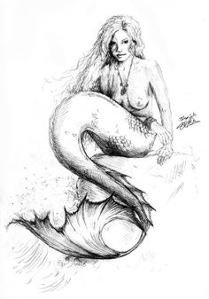 236x337 Realistic Mermaid Drawings Coloring Sheets