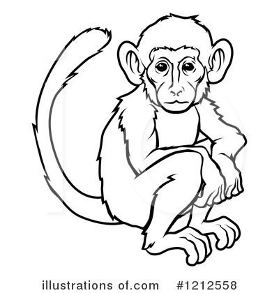 400x420 Fancy Monkey Pictures Black And White Realistic Monkey Clip Art