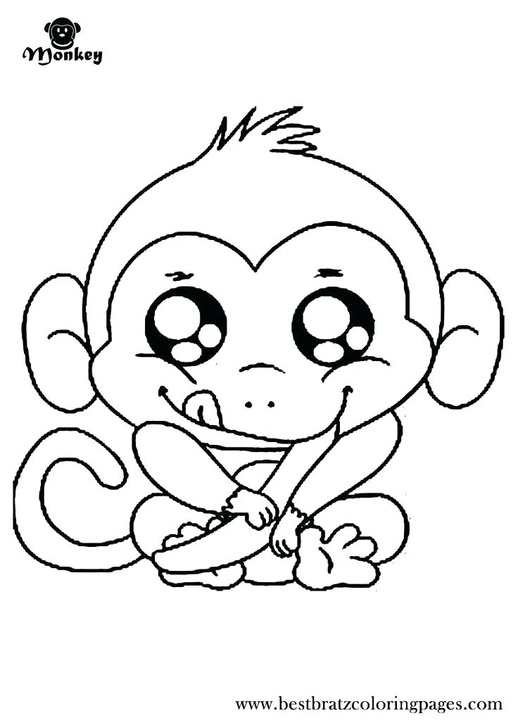 736x1030 Monkey Coloring Pages Printable Realistic Monkey Coloring Pages
