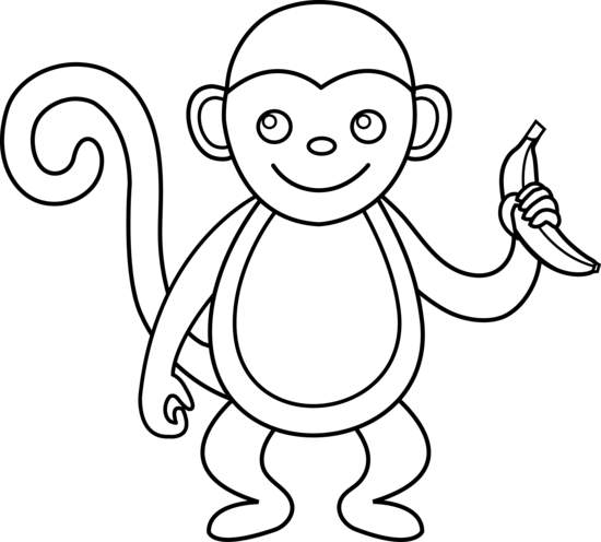 550x496 Newest Monkey Clip Art Black And White 39 About Remodel Free