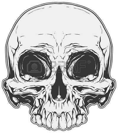 400x450 Graphic Tattoo Skull Poster Design Royalty Free Cliparts, Vectors