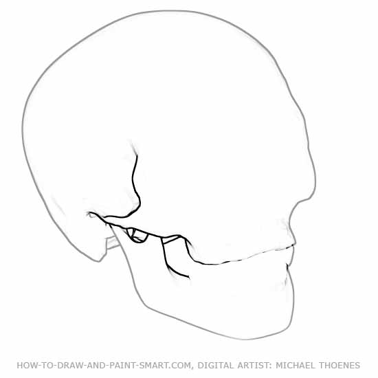 550x550 How To Draw A Skull Online Drawing Lessons