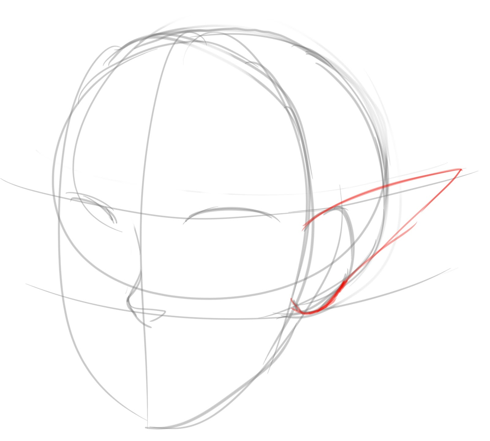 1600x1439 How To Draw Pointed Elf Ears
