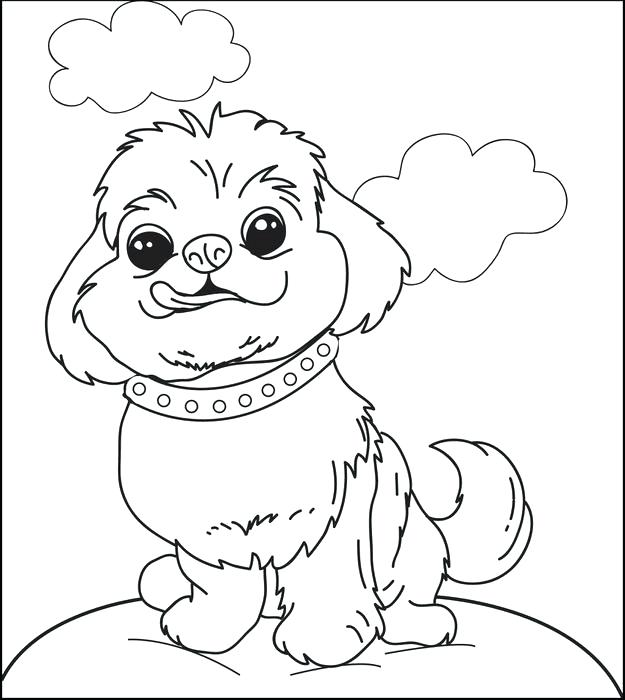 625x700 Puppy Coloring Page Fluffy Puppy Dog Printable Coloring Page