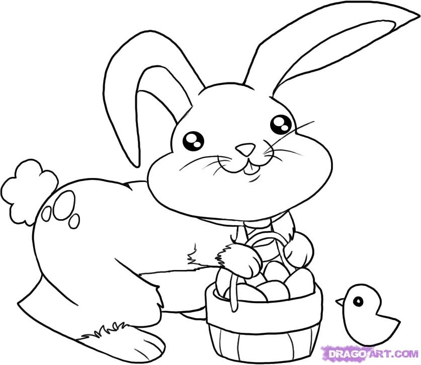 837x726 Drawn Bunny Easter