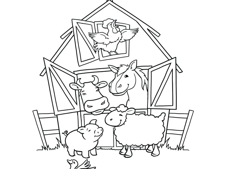 773x576 Baby Farm Animals Coloring Pages Rabbit With Carrot Cow With Calf
