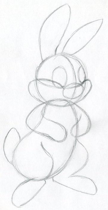 362x701 Let's Draw Cartoon Rabbit. Easy To Follow Tutorial.