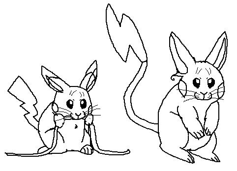 482x348 Realistic Pikachu And Raichu 2 (Rough Sketches) Weasyl