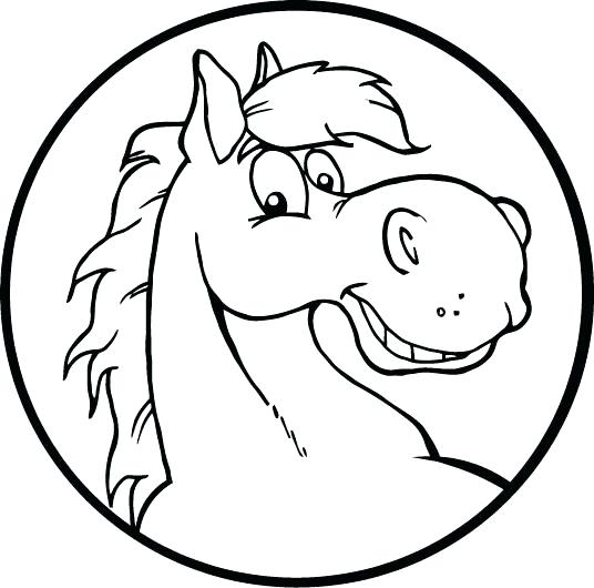 536x530 Horse Head Coloring Page Pin Drawn Mask Horse Horse Head Profile