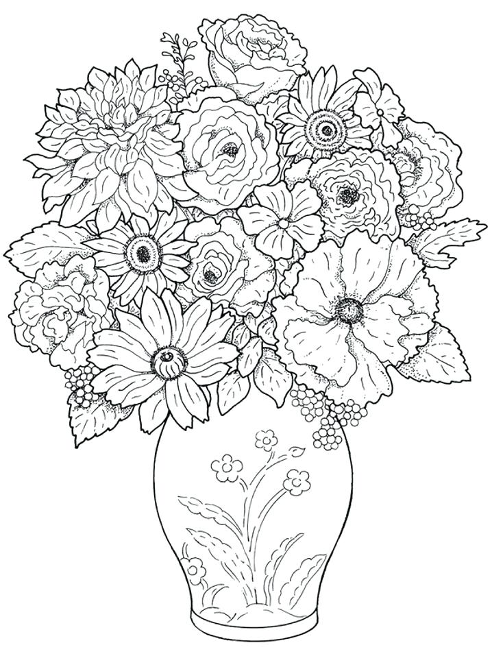 718x957 Realistic Coloring Pages Realistic Flower Coloring Pages Realistic