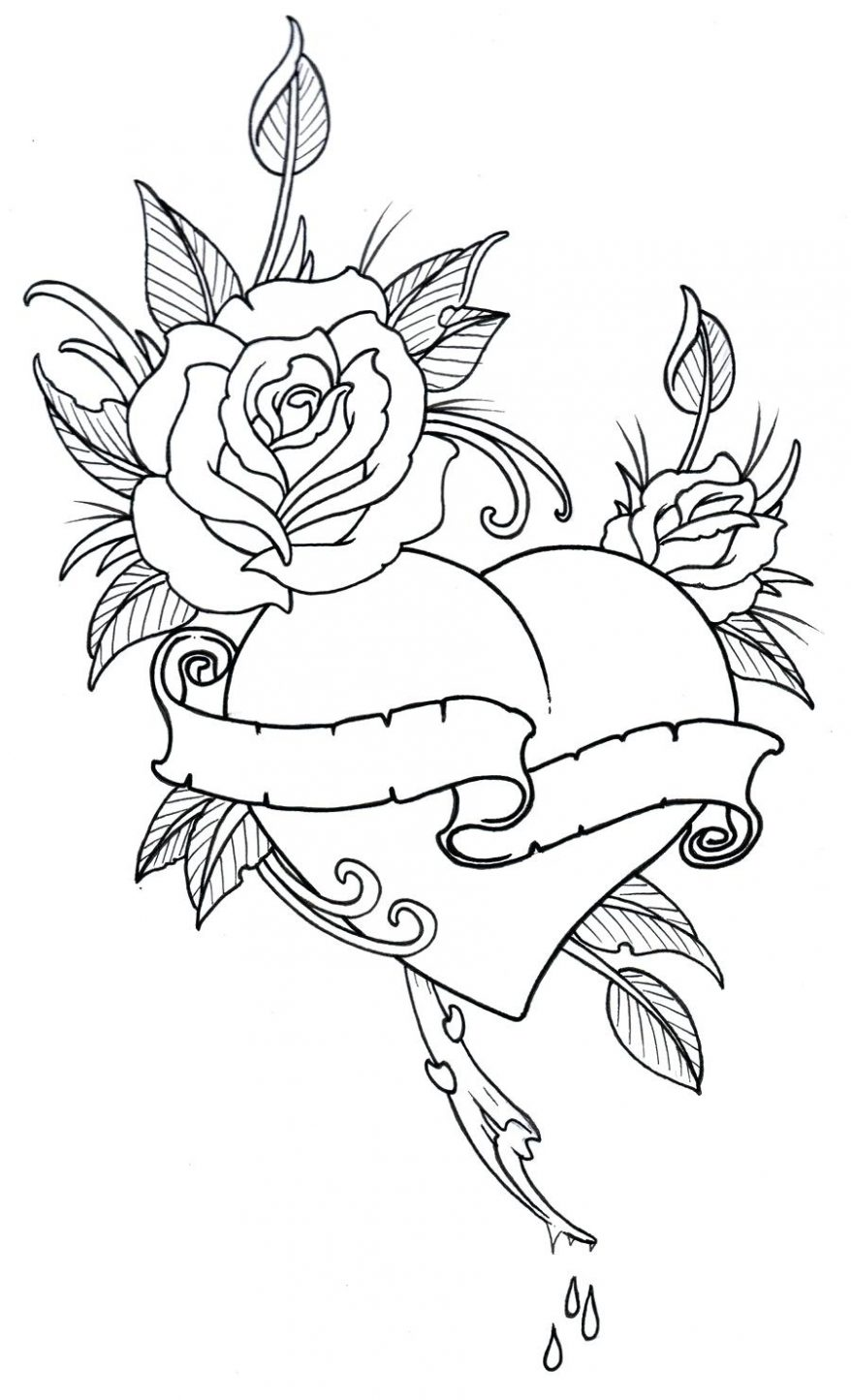 878x1445 Rose Drawing Outline 131 Marvellous Simple Rose Drawing Outline