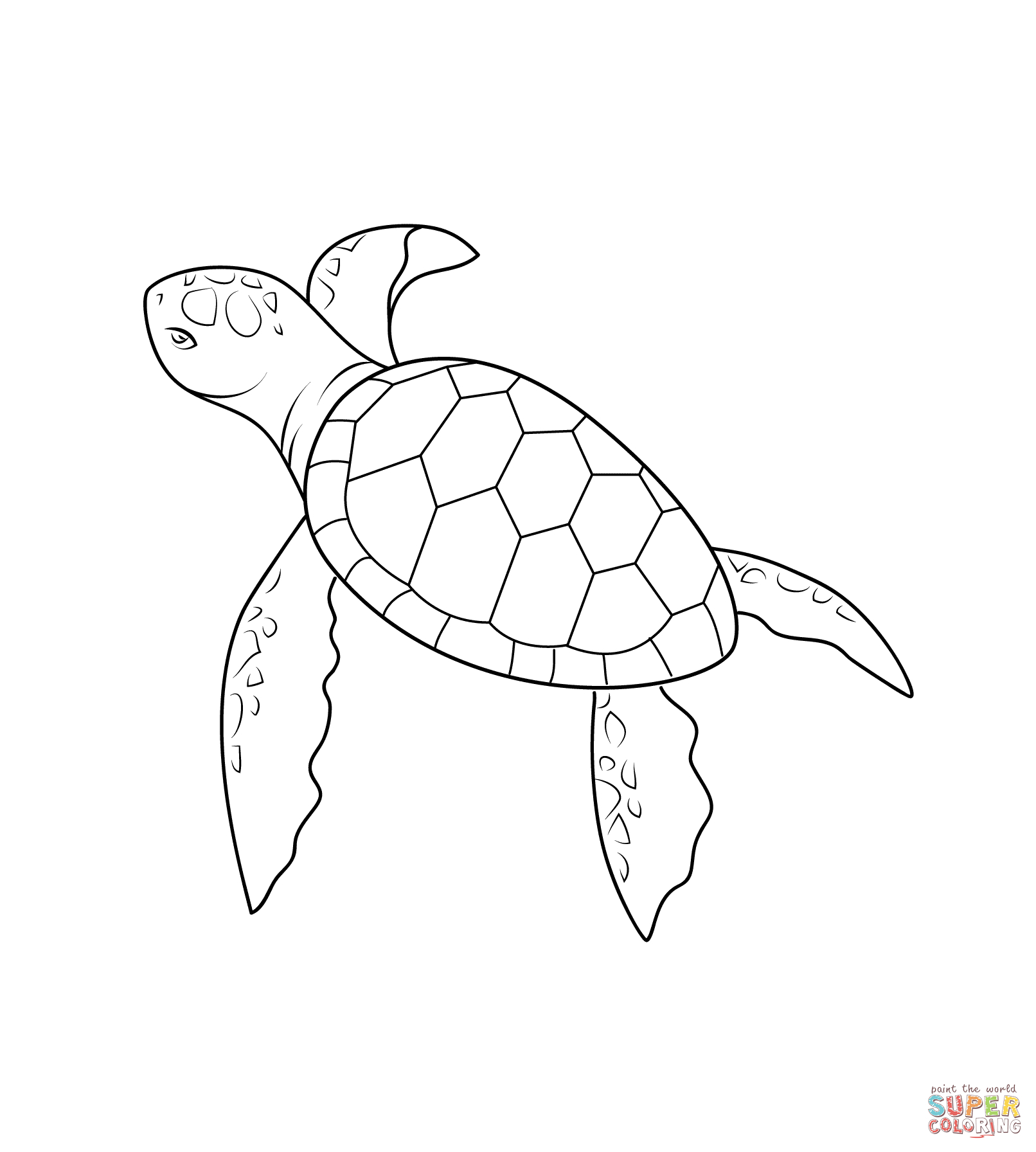 sea turtle coloring pages realistic-#21