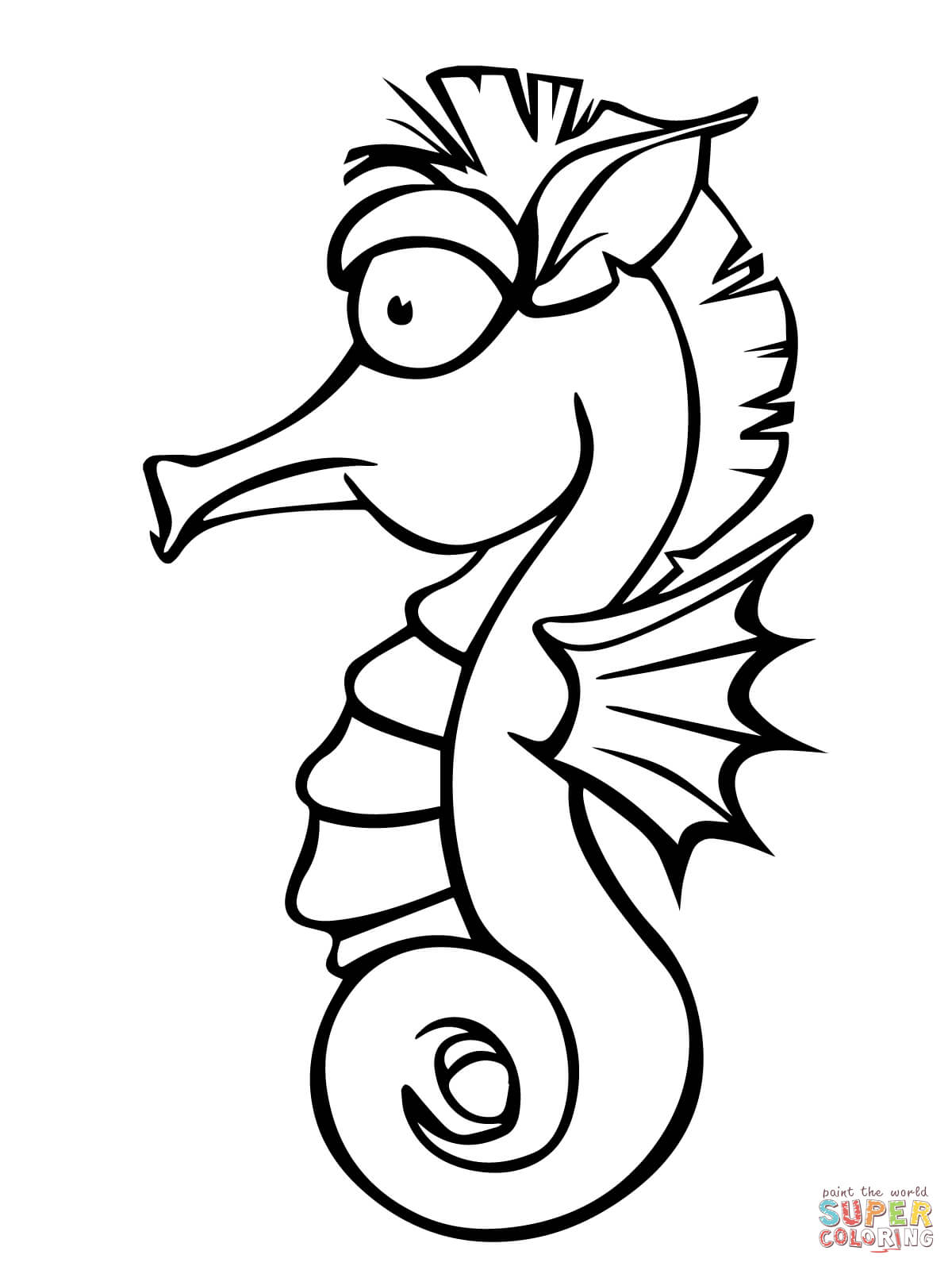 Realistic Seahorse Drawing At Getdrawings Com Free For Personal
