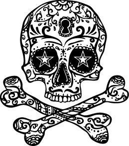 259x294 Get Skull Decor Temporary Tattoo