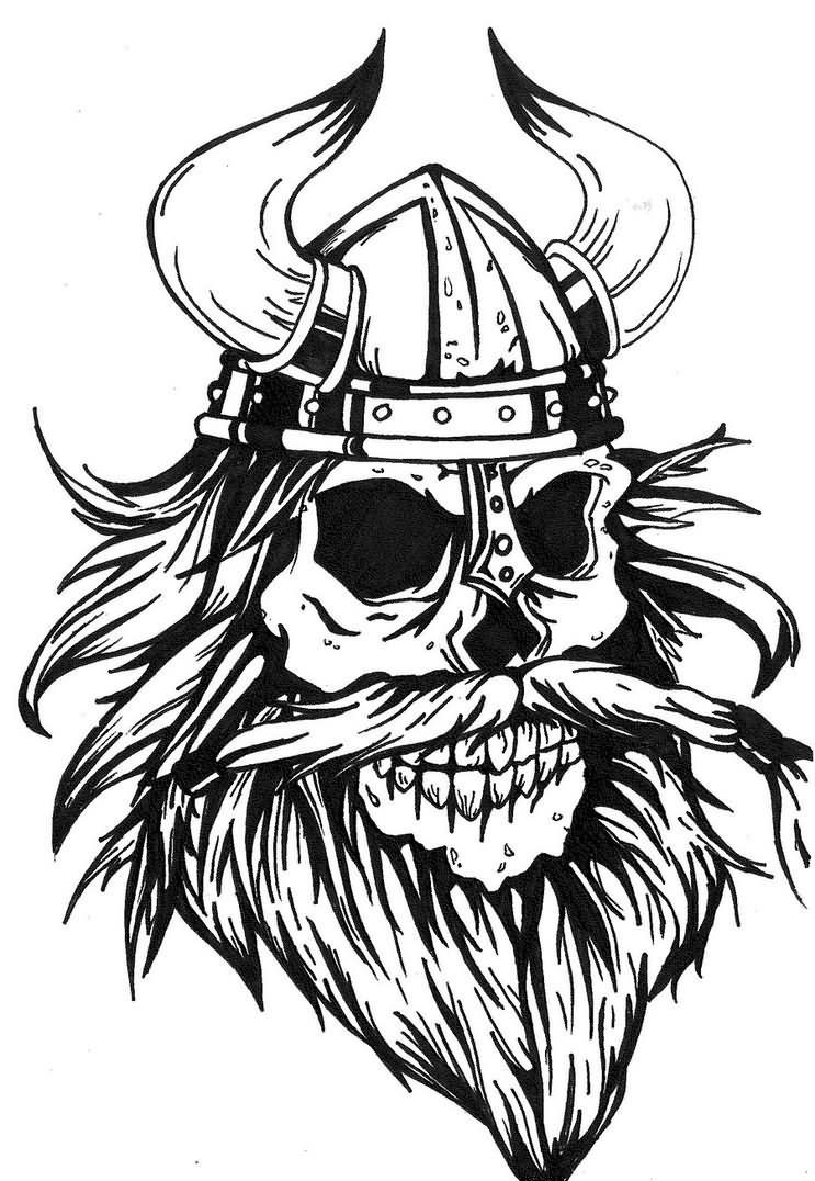 743x1076 Viking Skull Tattoo Designs And Images Ideas